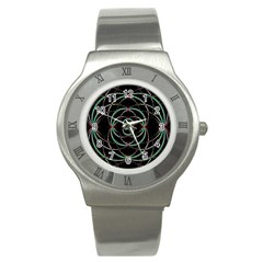 Abstract Spider Web Stainless Steel Watch