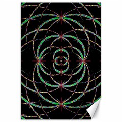 Abstract Spider Web Canvas 12  X 18