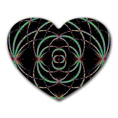 Abstract Spider Web Heart Mousepads