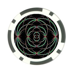Abstract Spider Web Poker Chip Card Guard
