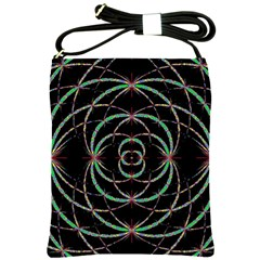 Abstract Spider Web Shoulder Sling Bags