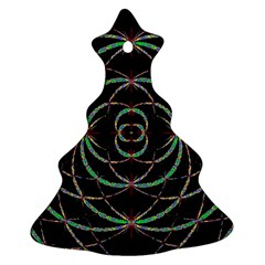 Abstract Spider Web Christmas Tree Ornament (two Sides)