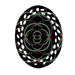 Abstract Spider Web Oval Filigree Ornament (two Sides)