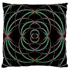 Abstract Spider Web Large Flano Cushion Case (one Side)