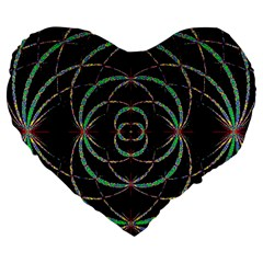 Abstract Spider Web Large 19  Premium Flano Heart Shape Cushions