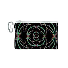 Abstract Spider Web Canvas Cosmetic Bag (s)