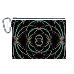 Abstract Spider Web Canvas Cosmetic Bag (l)