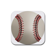 Baseball Rubber Coaster (square)