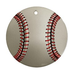 Baseball Round Ornament (two Sides)