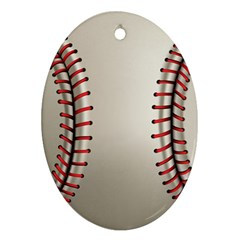 Baseball Oval Ornament (two Sides)