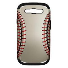 Baseball Samsung Galaxy S Iii Hardshell Case (pc+silicone)