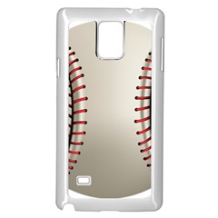 Baseball Samsung Galaxy Note 4 Case (white)