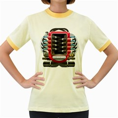 Car Engine Women s Fitted Ringer T Shirts