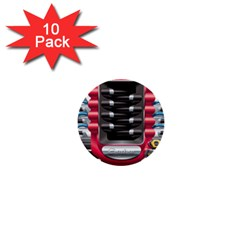 Car Engine 1  Mini Buttons (10 Pack)