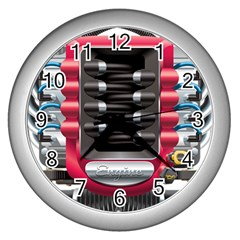 Car Engine Wall Clocks (silver)