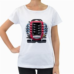 Car Engine Women s Loose Fit T Shirt (white)