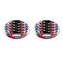 Car Engine Cufflinks (oval)