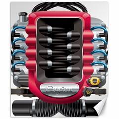 Car Engine Canvas 20  X 24