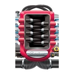 Car Engine Shower Curtain 48  X 72  (small)