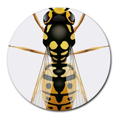 Wasp Round Mousepads