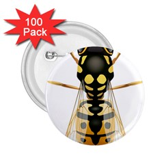 Wasp 2 25  Buttons (100 Pack)