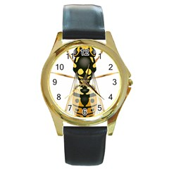 Wasp Round Gold Metal Watch