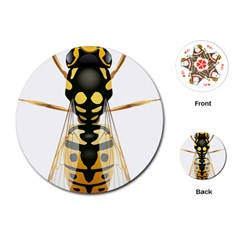Wasp Playing Cards (round)