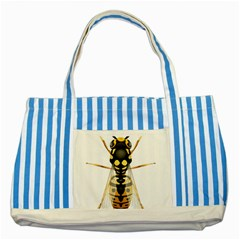 Wasp Striped Blue Tote Bag