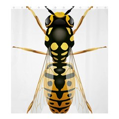 Wasp Shower Curtain 66  X 72  (large)