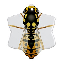 Wasp Snowflake Ornament (two Sides)