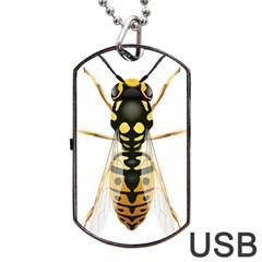 Wasp Dog Tag Usb Flash (one Side)