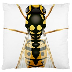 Wasp Large Flano Cushion Case (one Side)