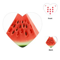 Piece Of Watermelon Playing Cards (heart)