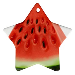 Piece Of Watermelon Star Ornament (two Sides)