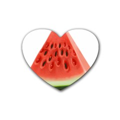 Piece Of Watermelon Heart Coaster (4 Pack)
