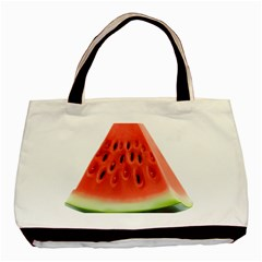 Piece Of Watermelon Basic Tote Bag (two Sides)