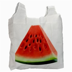 Piece Of Watermelon Recycle Bag (two Side)