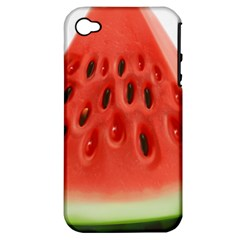 Piece Of Watermelon Apple Iphone 4/4s Hardshell Case (pc+silicone)