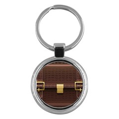 Brown Bag Key Chains (round)