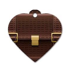 Brown Bag Dog Tag Heart (one Side)