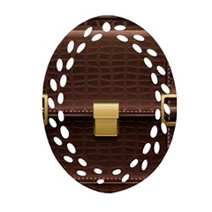 Brown Bag Oval Filigree Ornament (two Sides)