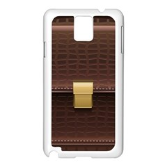 Brown Bag Samsung Galaxy Note 3 N9005 Case (white)
