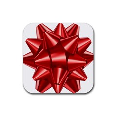 Red Bow Rubber Coaster (square)