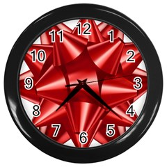 Red Bow Wall Clocks (black)