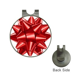Red Bow Hat Clips With Golf Markers