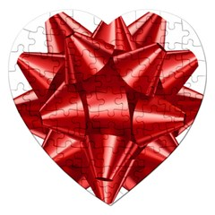 Red Bow Jigsaw Puzzle (heart)