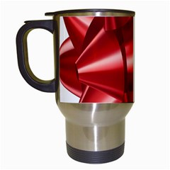 Red Bow Travel Mugs (white)