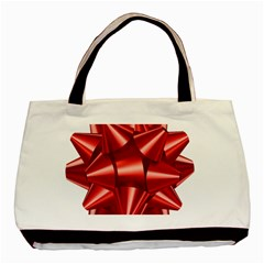 Red Bow Basic Tote Bag (two Sides)