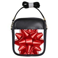 Red Bow Girls Sling Bags