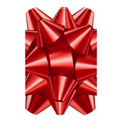 Red Bow Shower Curtain 48  X 72  (small)